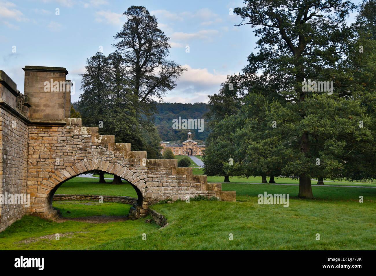 Chatsworth House; Derbyshire; UK - Stock Image