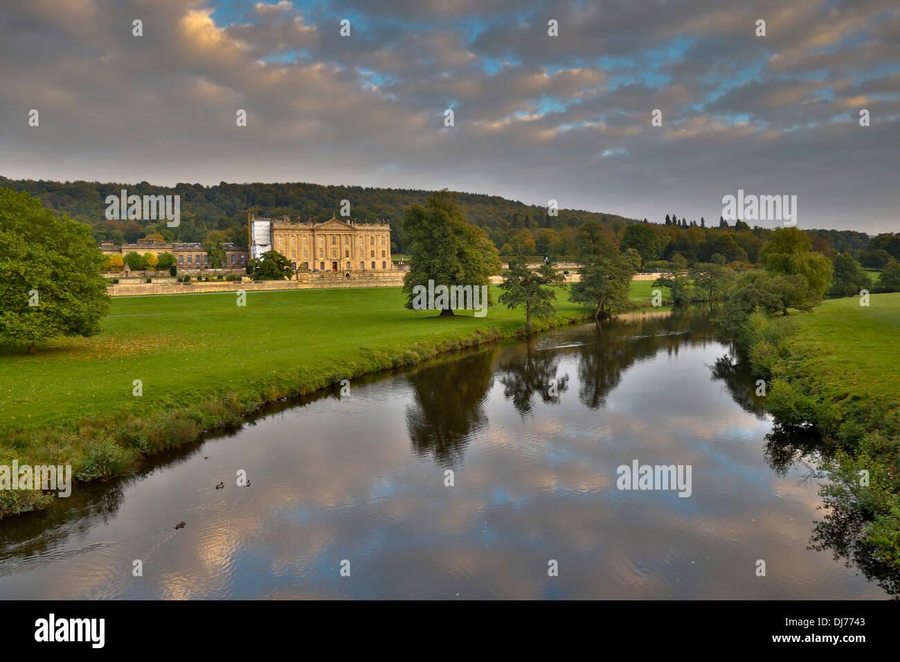 Chatsworth House and Estate; Derbyshire; UK - Stock Image