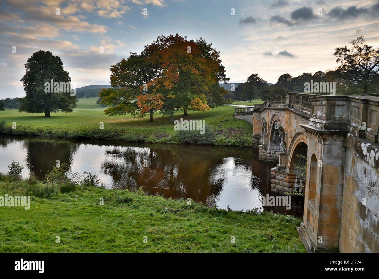 Chatsworth Estate; Autumn; Derbyshire; UK - Stock Image