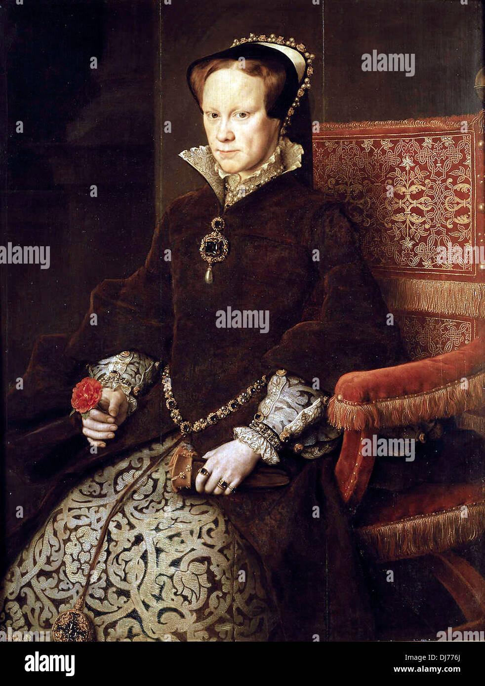 Mary Tudor, Queen of England, second wife of Felipe II - Stock Image