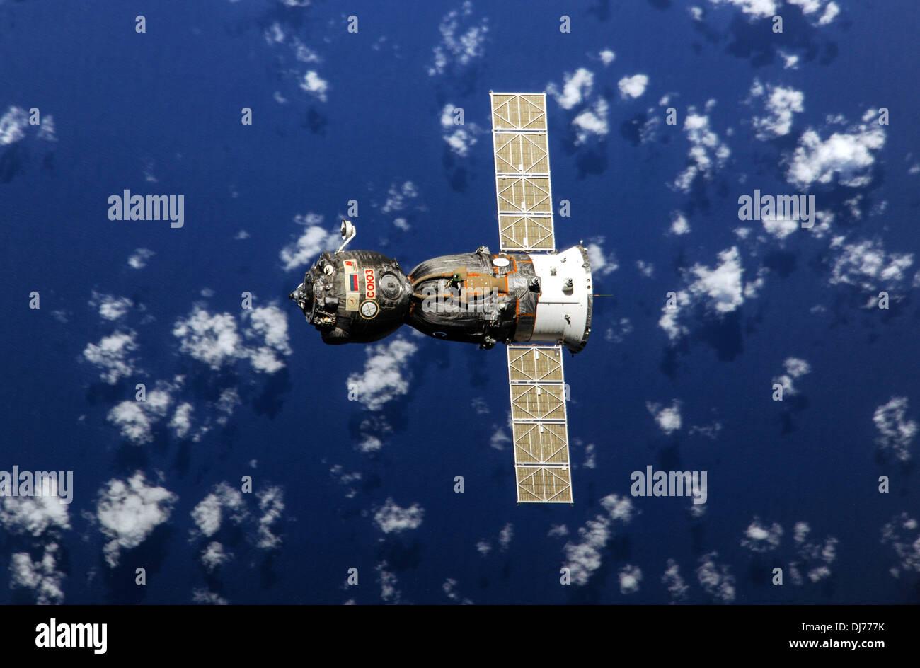 Soyuz TMA-08M spacecraft returns to Earth - Stock Image