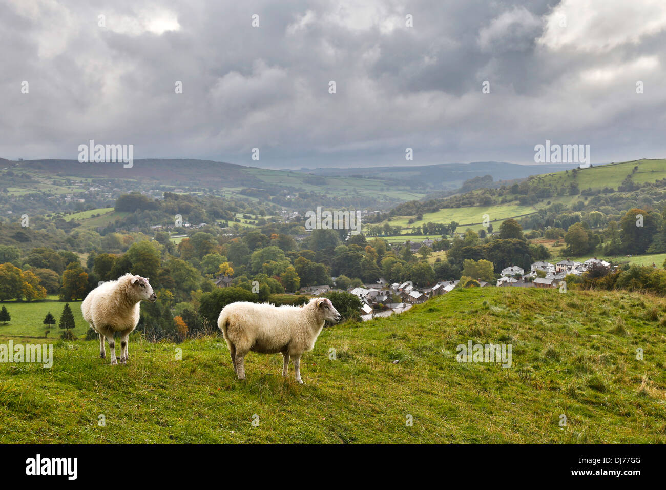 View From Eyam; Peak District; Derbyshire; UK - Stock Image