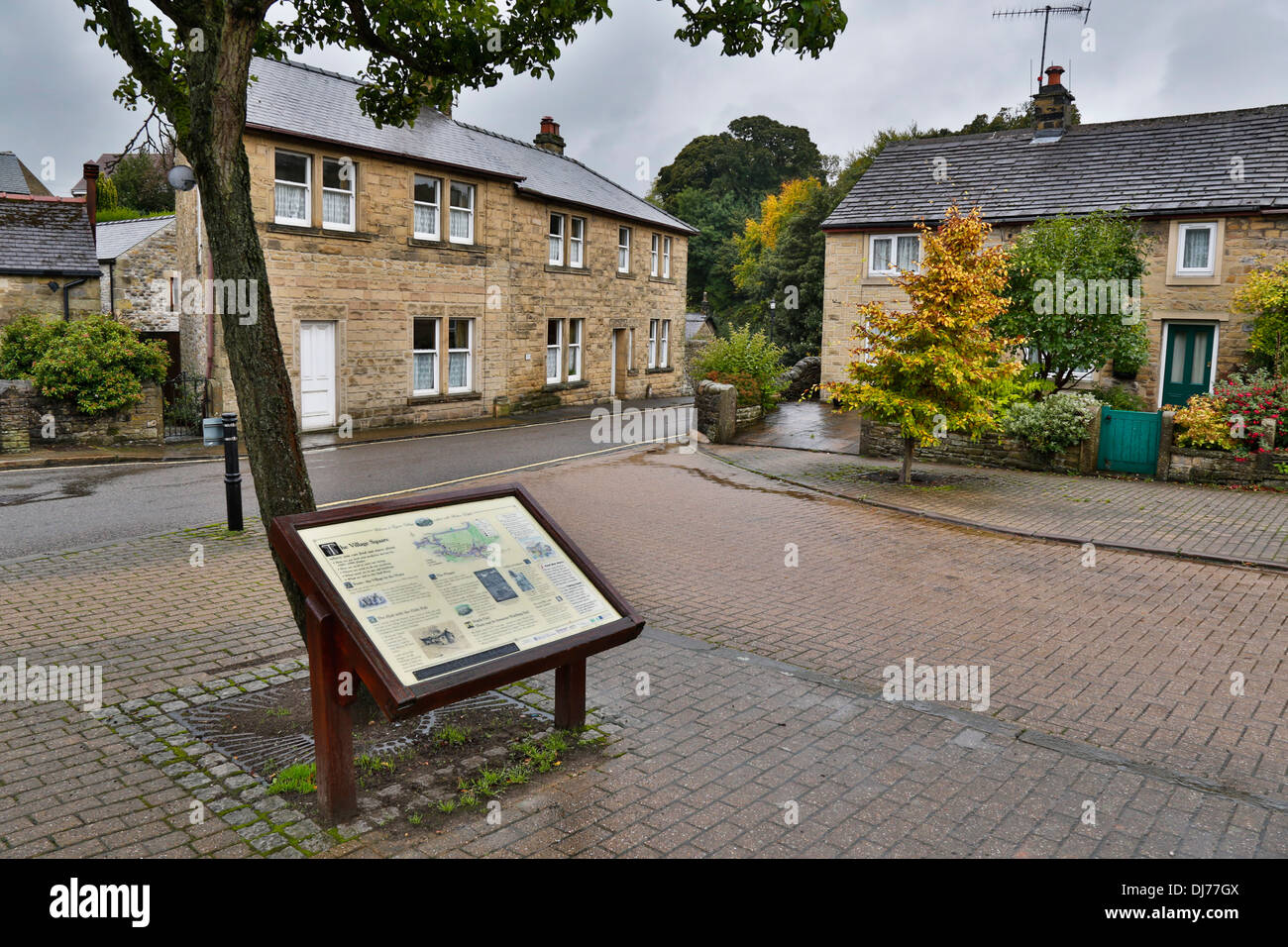 Eyam; Derbyshire; UK - Stock Image