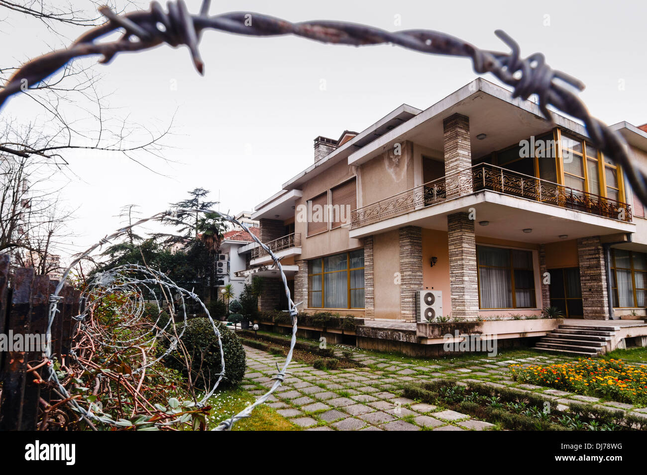 House of former dictator Enver Hoxha - Stock Image