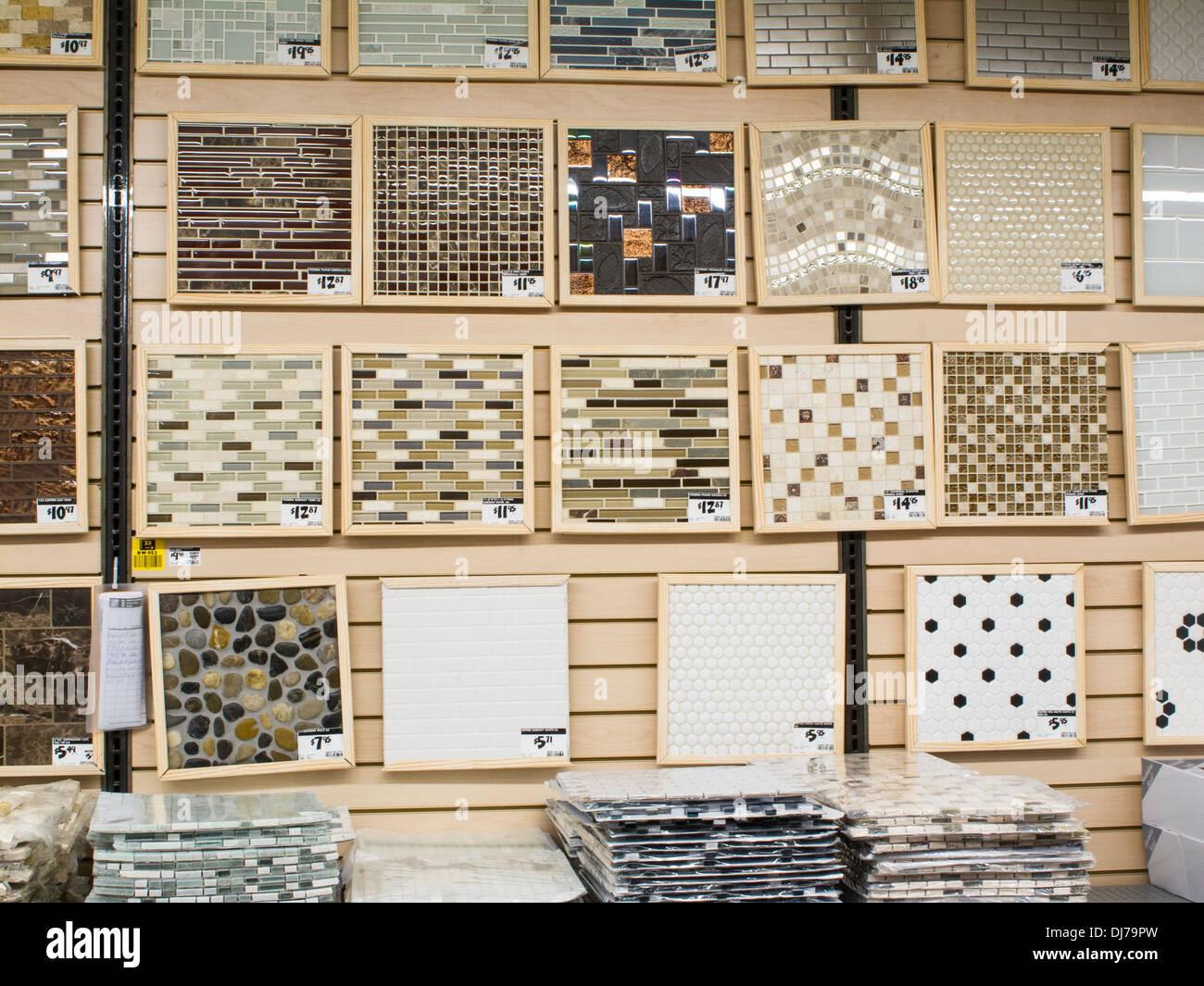 Tile Department Display,Home Depot, NYC,USA Stock Photo: 62856273 ...