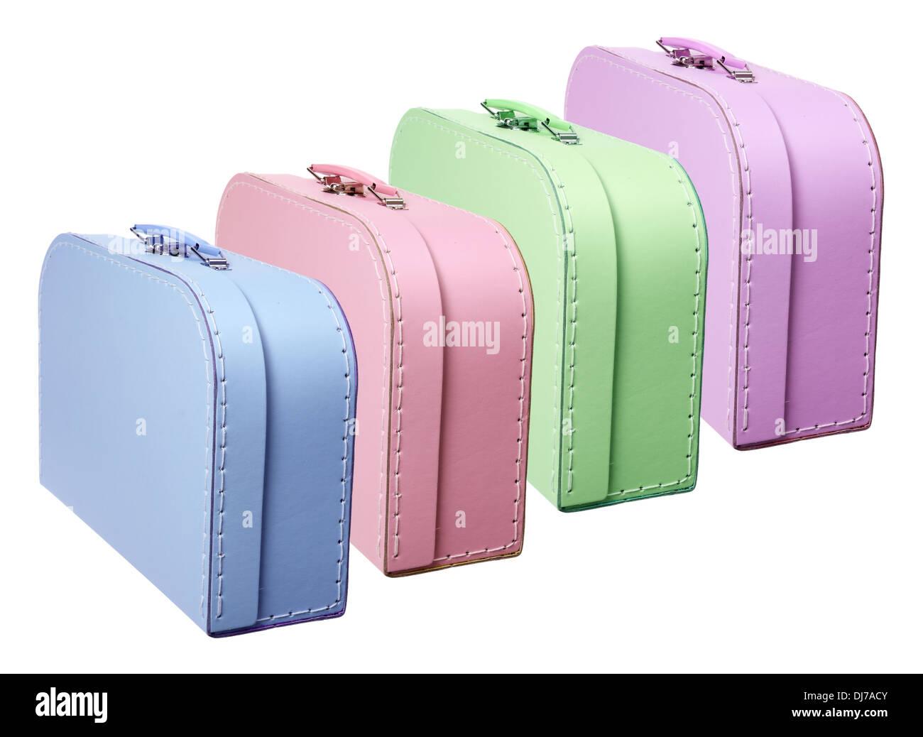 Mini Suitcases - Stock Image