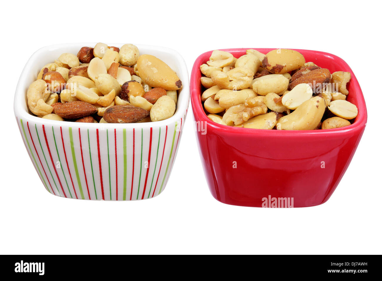 Two Bowl of Mixed Nuts - Stock Image