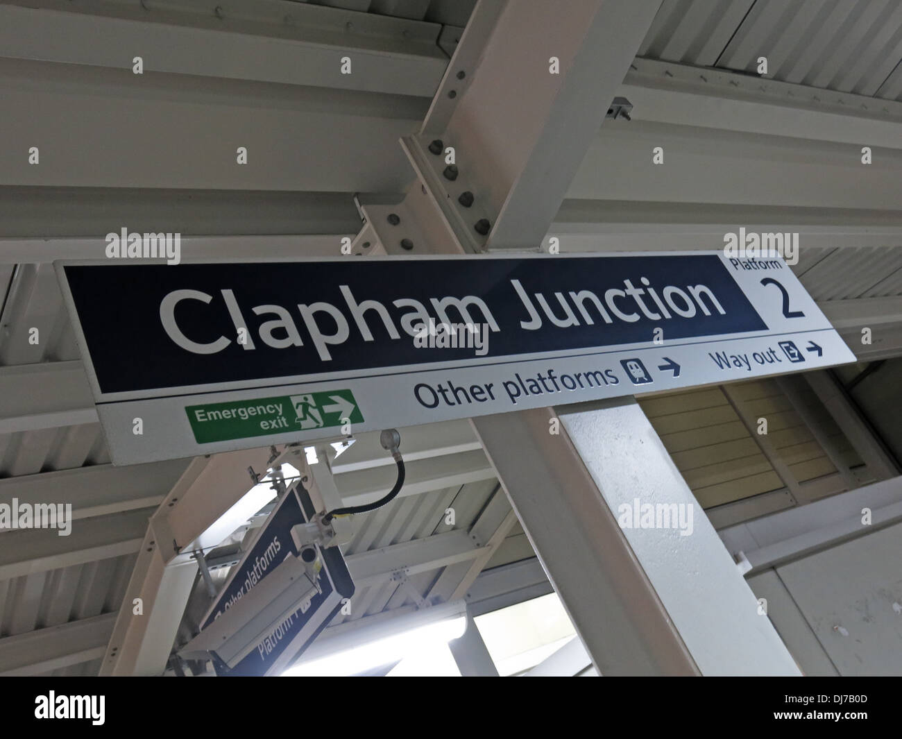 Clapham Junction railway station south west London city England , UK - Stock Image