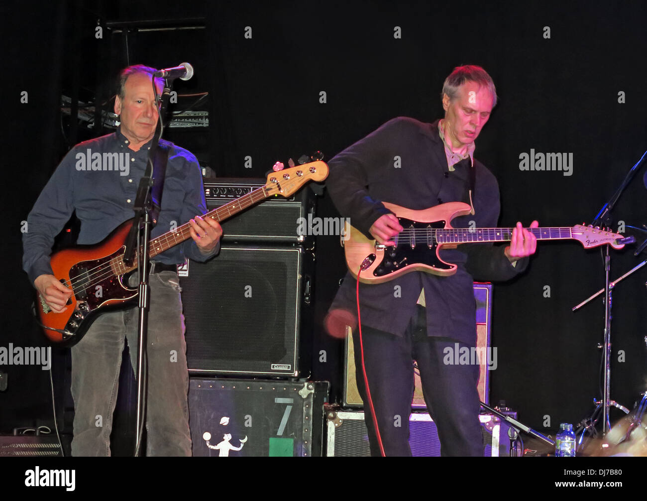 Fred Smith & Tom Verlaine of New York based Television, live at the Manchester Academy November 17th 2013 - Stock Image