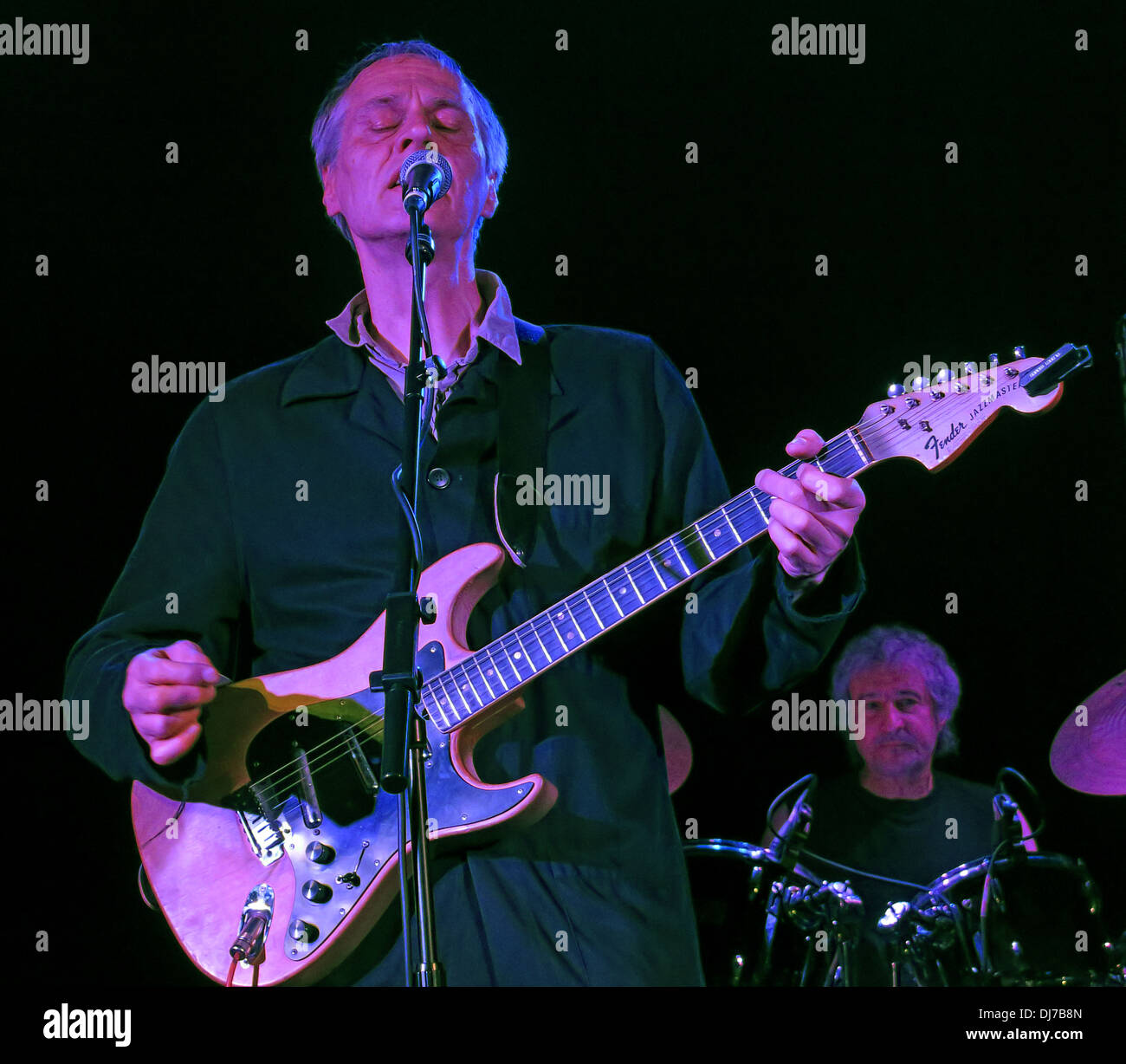 New York based Television, live at the Manchester Academy November 17th 2013 - Tom Verlaine with Fender jazzmaster guitar - Stock Image