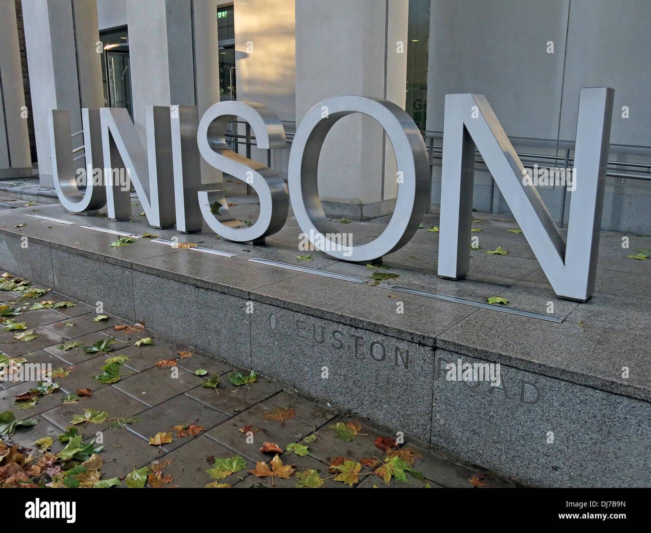 Unison building 130 Euston rd London England UK - Stock Image