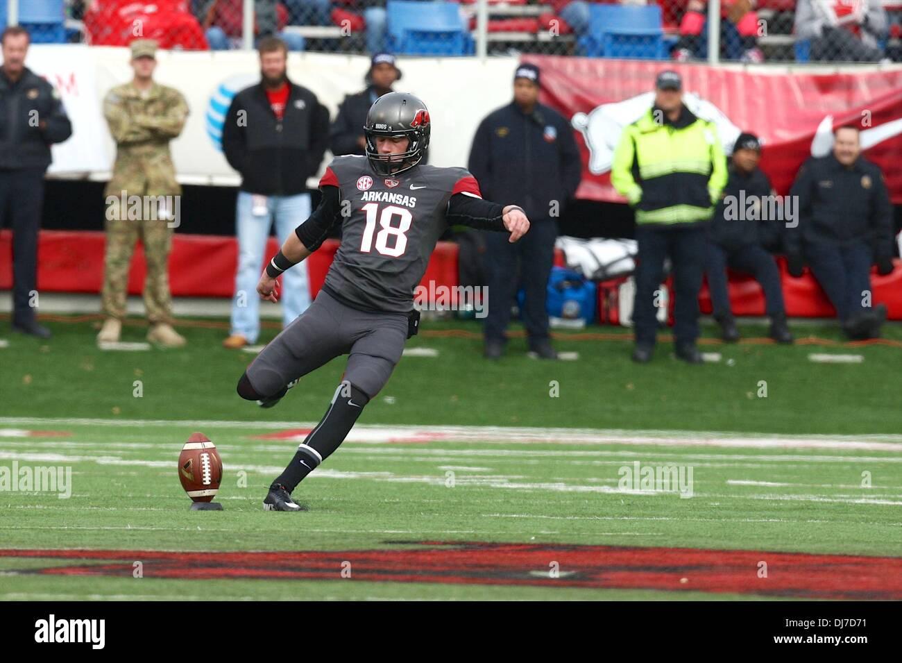Little Rock Arkansas Usa 23 Nov 2013 Razorback Kicker Zoch