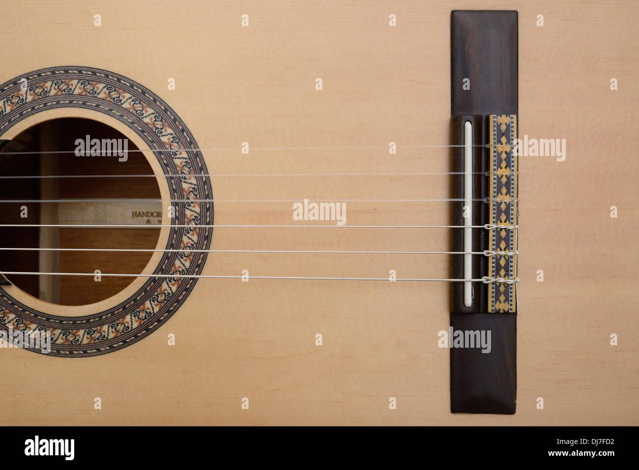 Classic Guitar Bridge Saddle String Stock Photo 62860702 Alamy