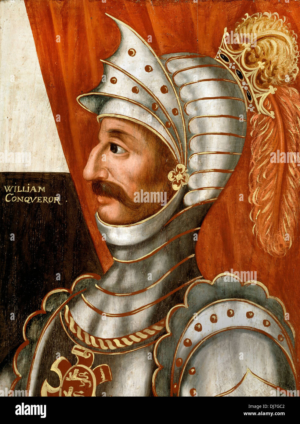 British School. William the Conqueror. Circa 1618-20. Oil on panel. Dulwich Picture Gallery, London. - Stock Image