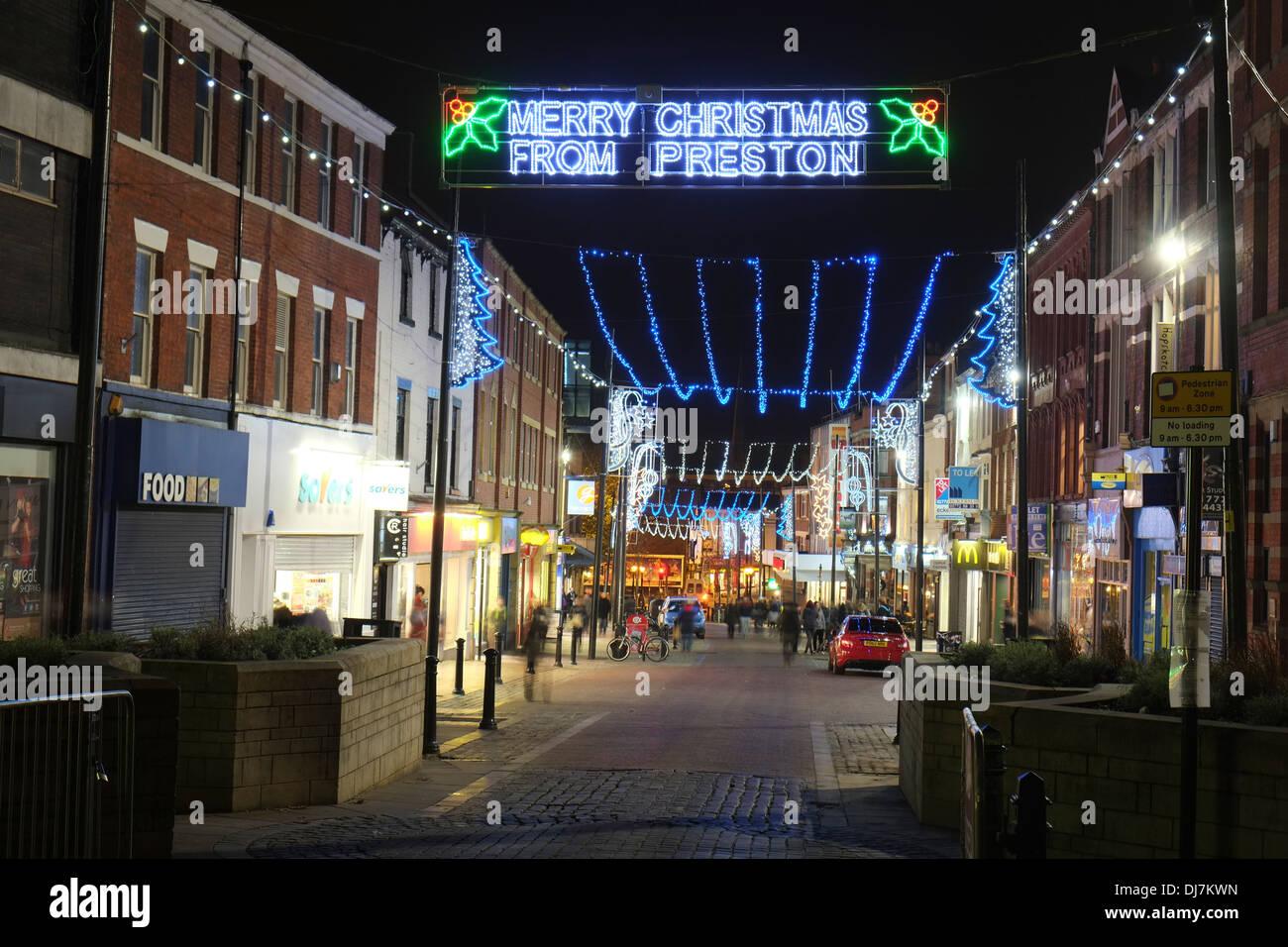 Preston Christmas Lights Stock Photos & Preston Christmas Lights ...