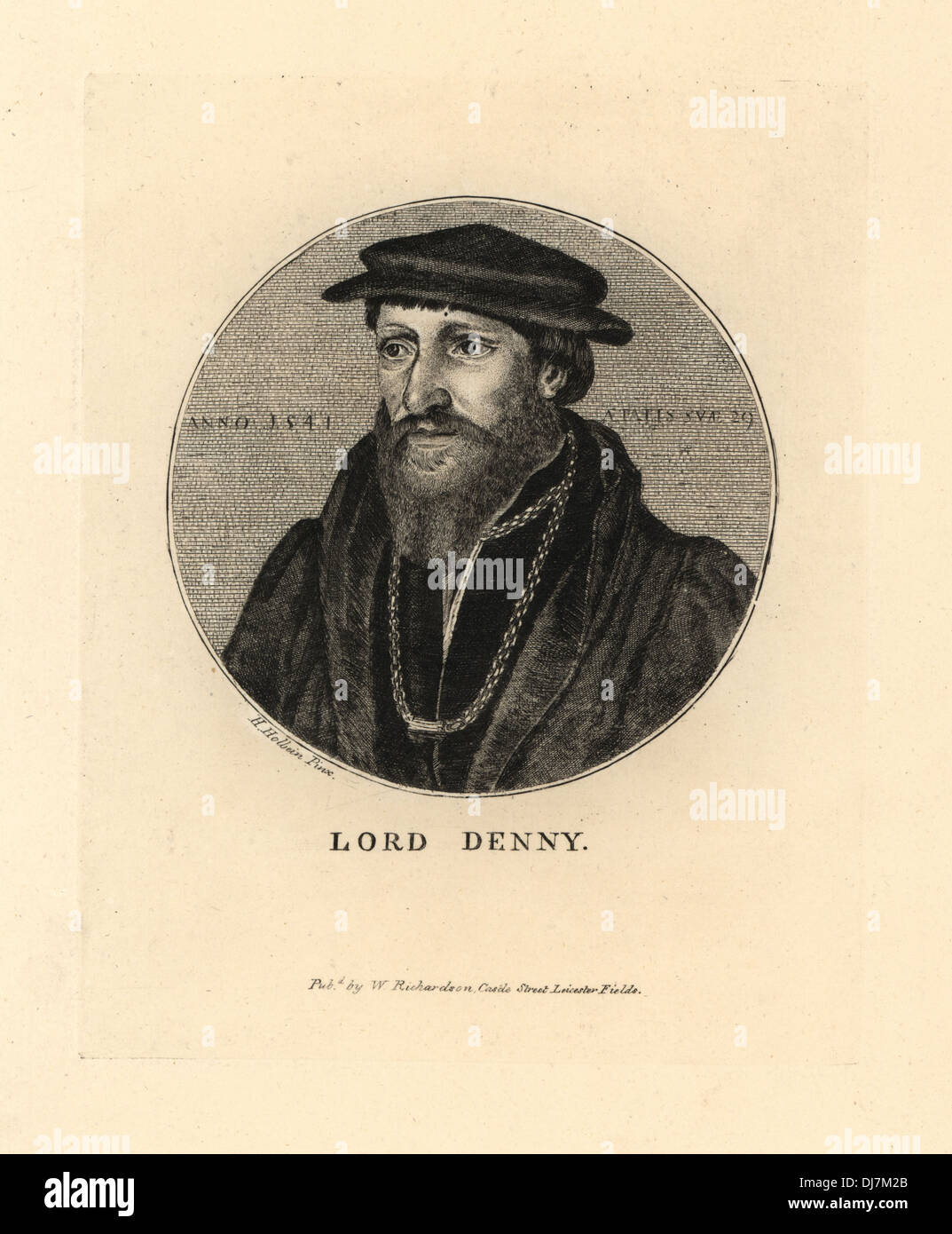 Lord Sir Anthony Denny, 1541. - Stock Image