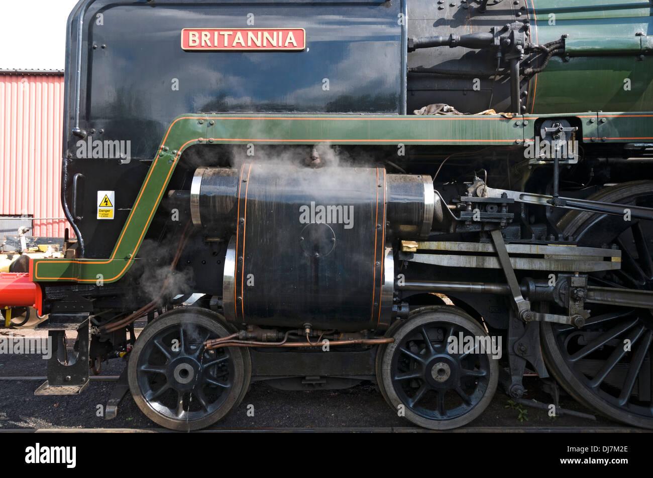 BR standard class 7 70000 Britannia steam locomotive at