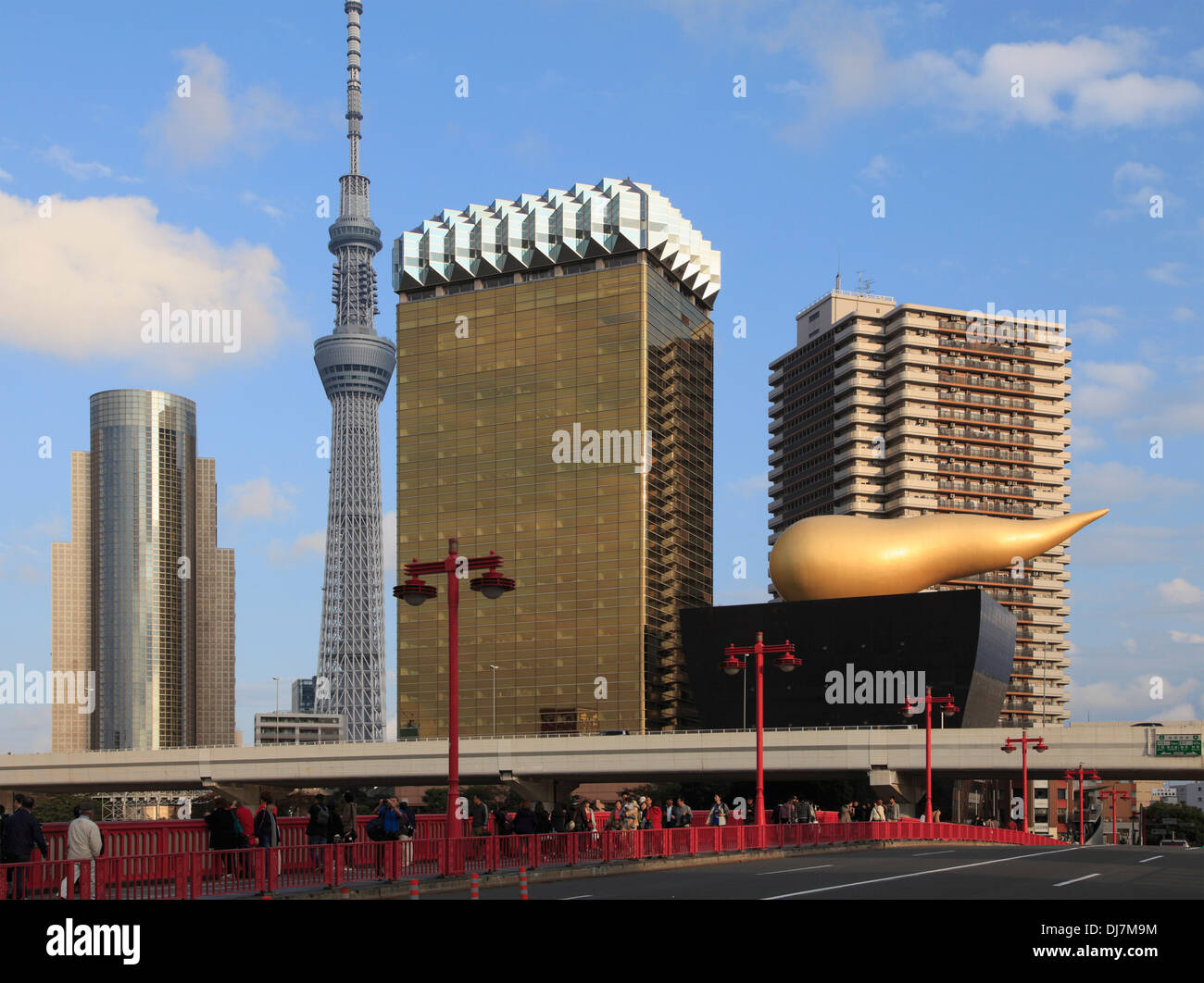 Japan, Tokyo, Asahi Breweries, Tokyo Skytree, - Stock Image