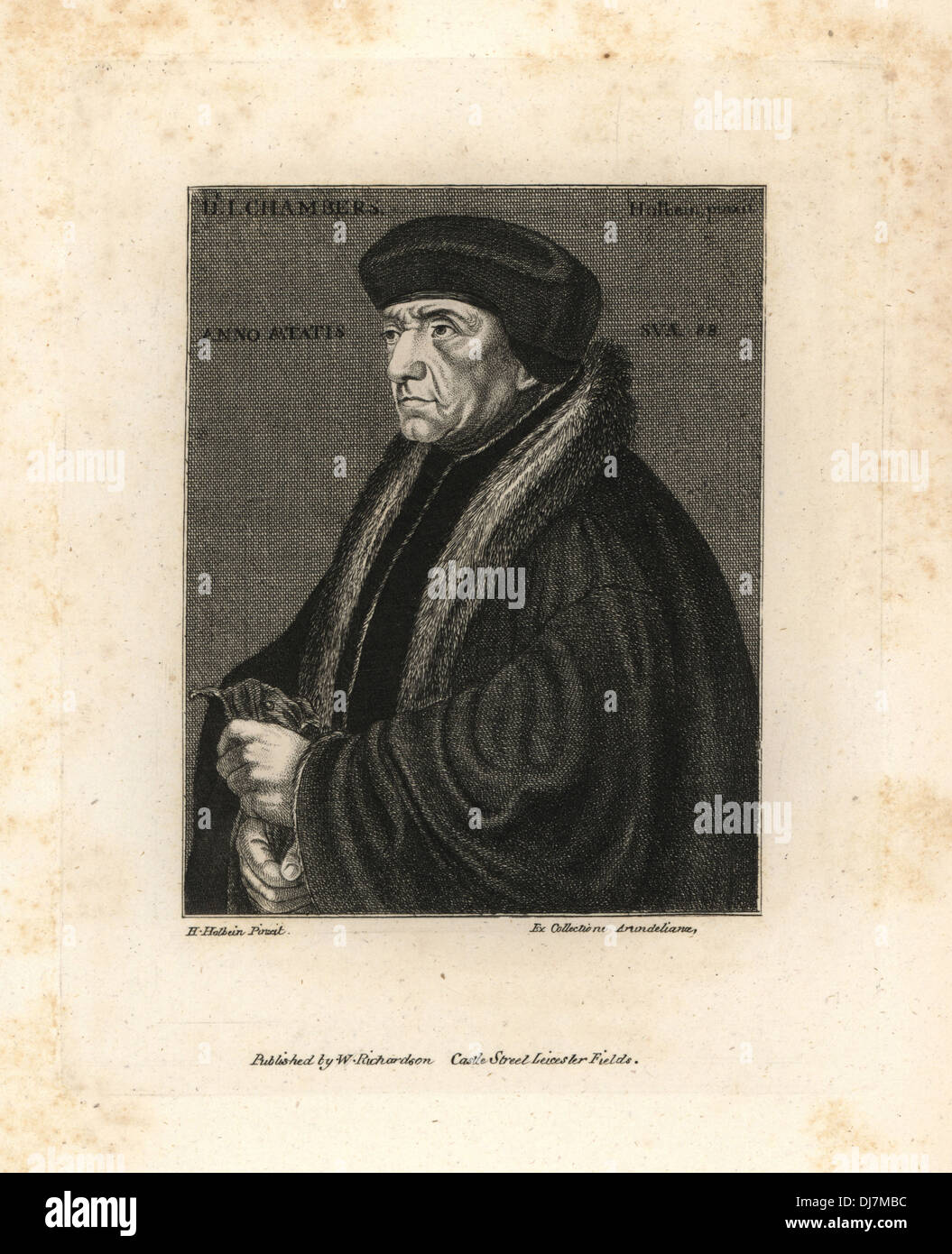 Dr. John Chambers, physician to King Henry VIII. - Stock Image