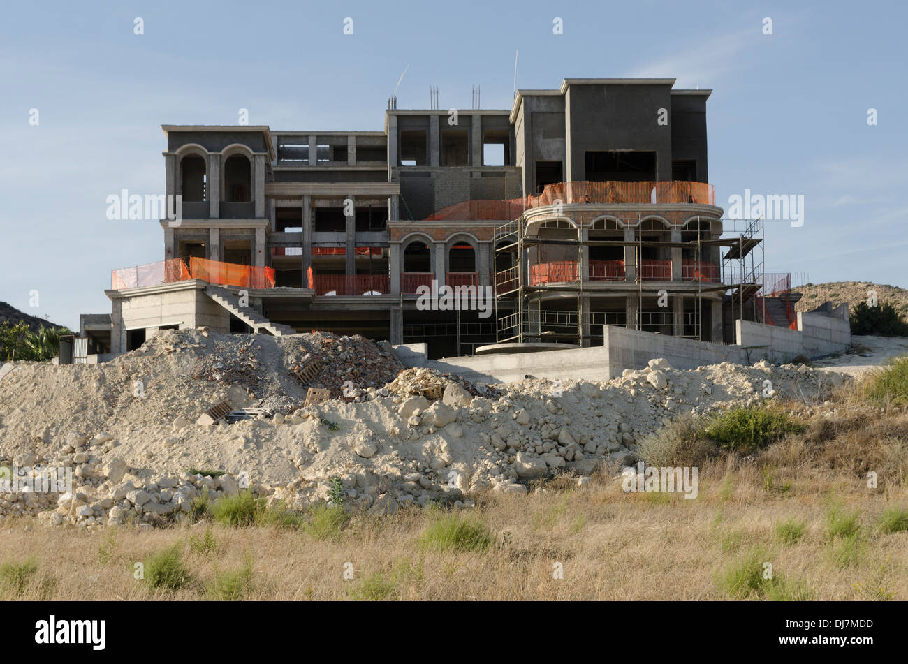 Building Site in Limassol Cyprus - Stock Image