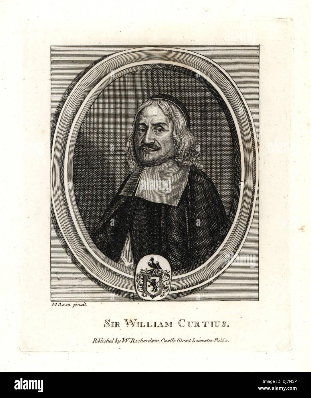 Sir William Curtius, Latine Curtius. - Stock Image