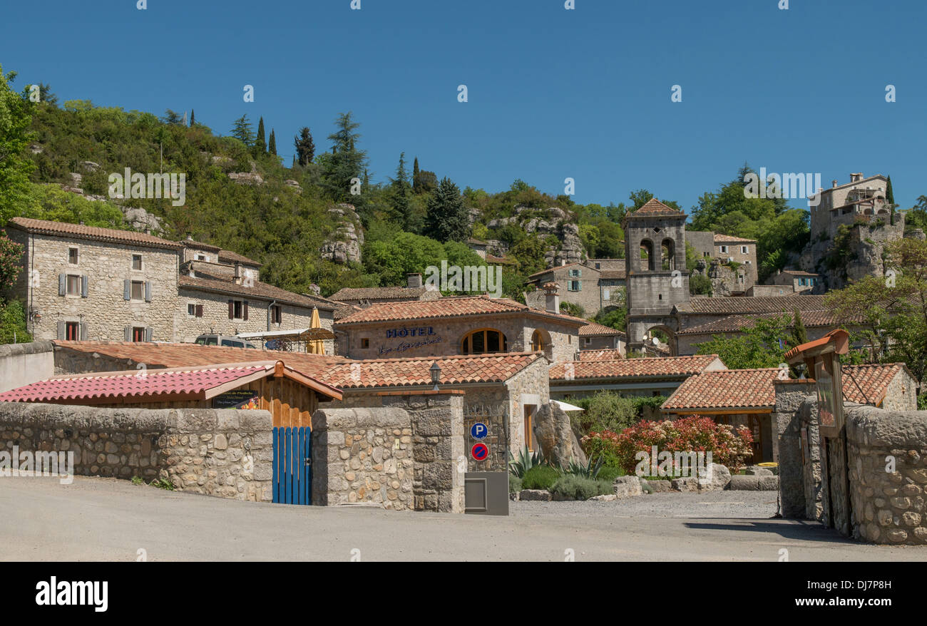 Labeaume in the Ardeche (07) departement of France - Stock Image