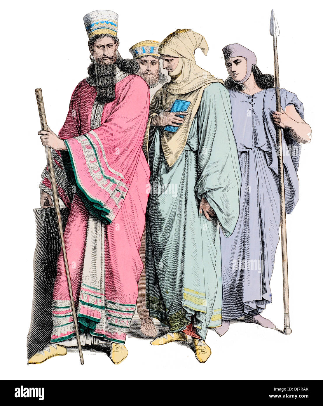 Pre Christian BC Meder Ancient Persia men of Rank - Stock Image