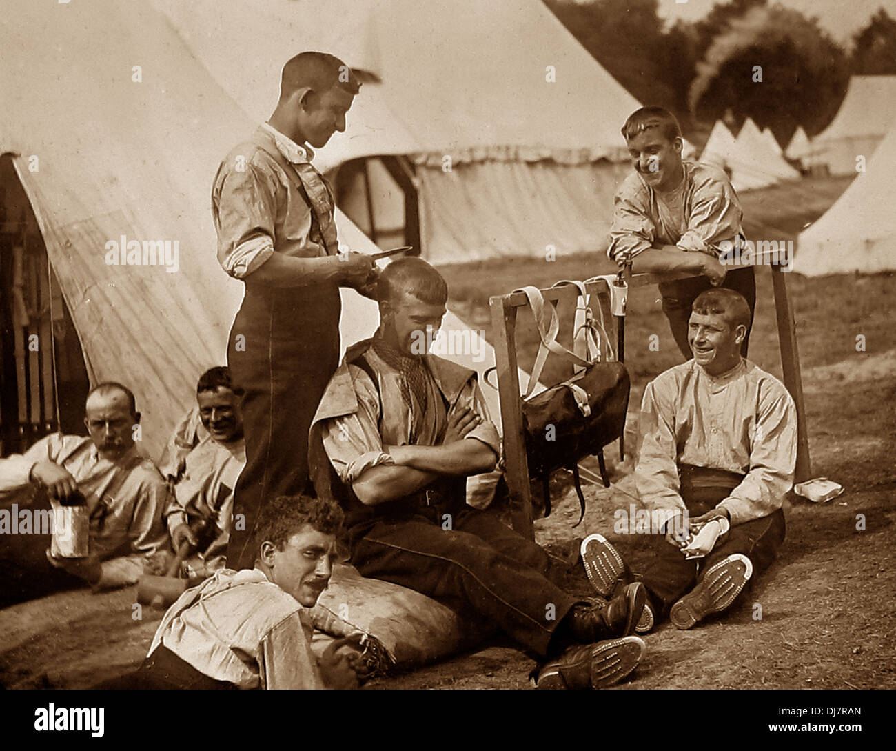British Army Camp Victorian period - Stock Image