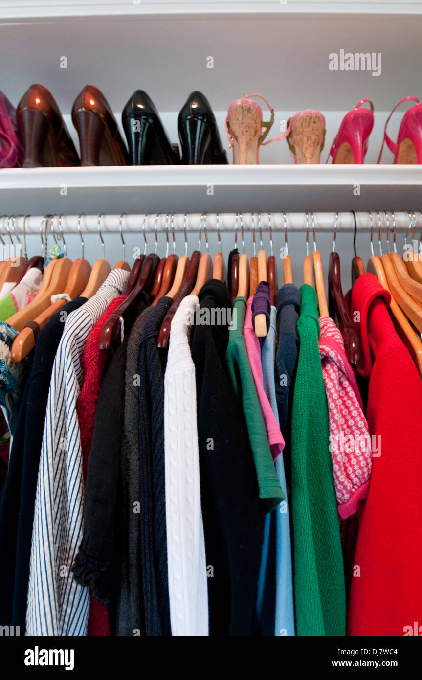 A woman's closet - Stock Image
