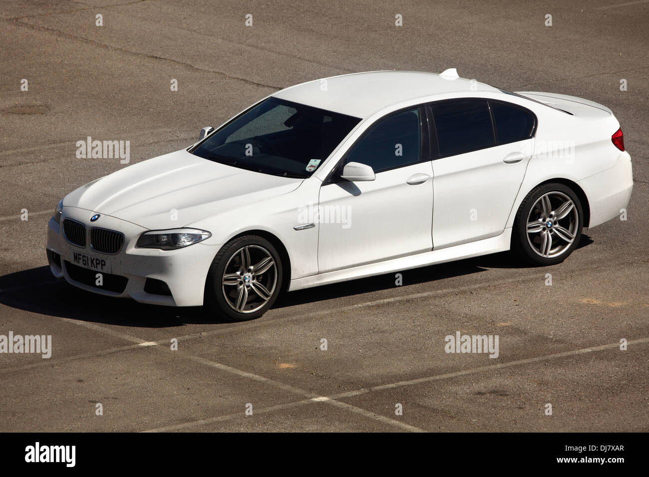 White Bmw 5 Series Saloon F10 Stock Photo 62869263 Alamy