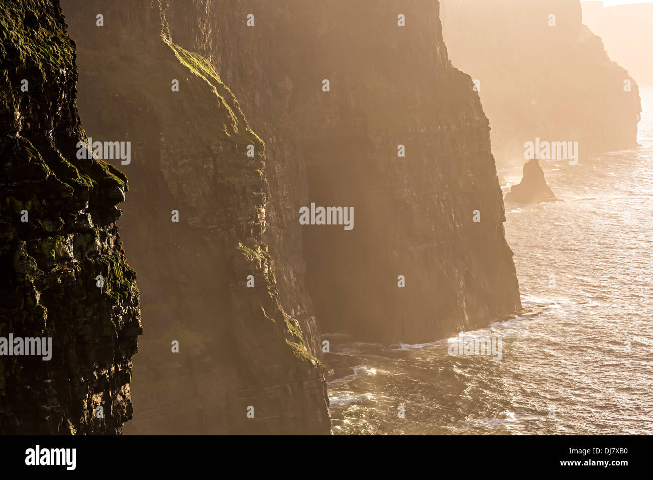 Cliffs of Moher, Co. Clare, west coast of Ireland - Stock Image