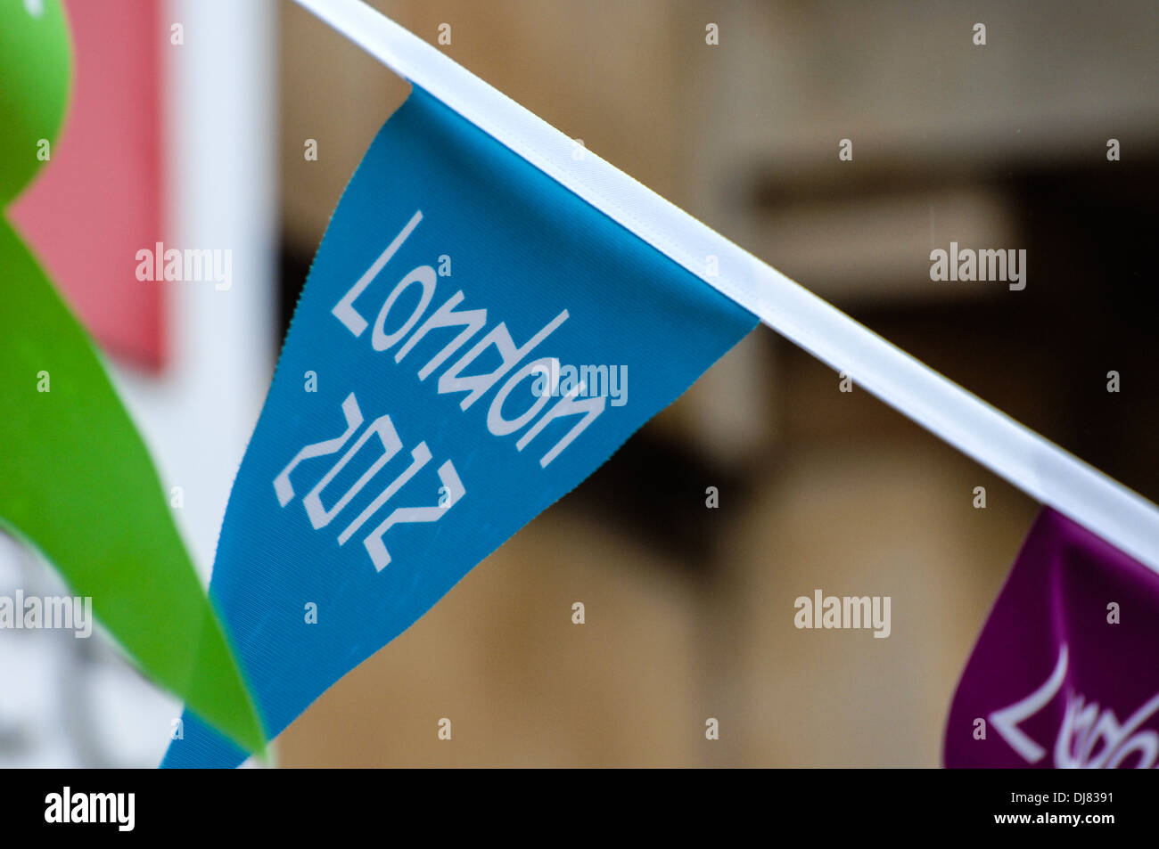 London 2012 Olympic flag banner - Stock Image