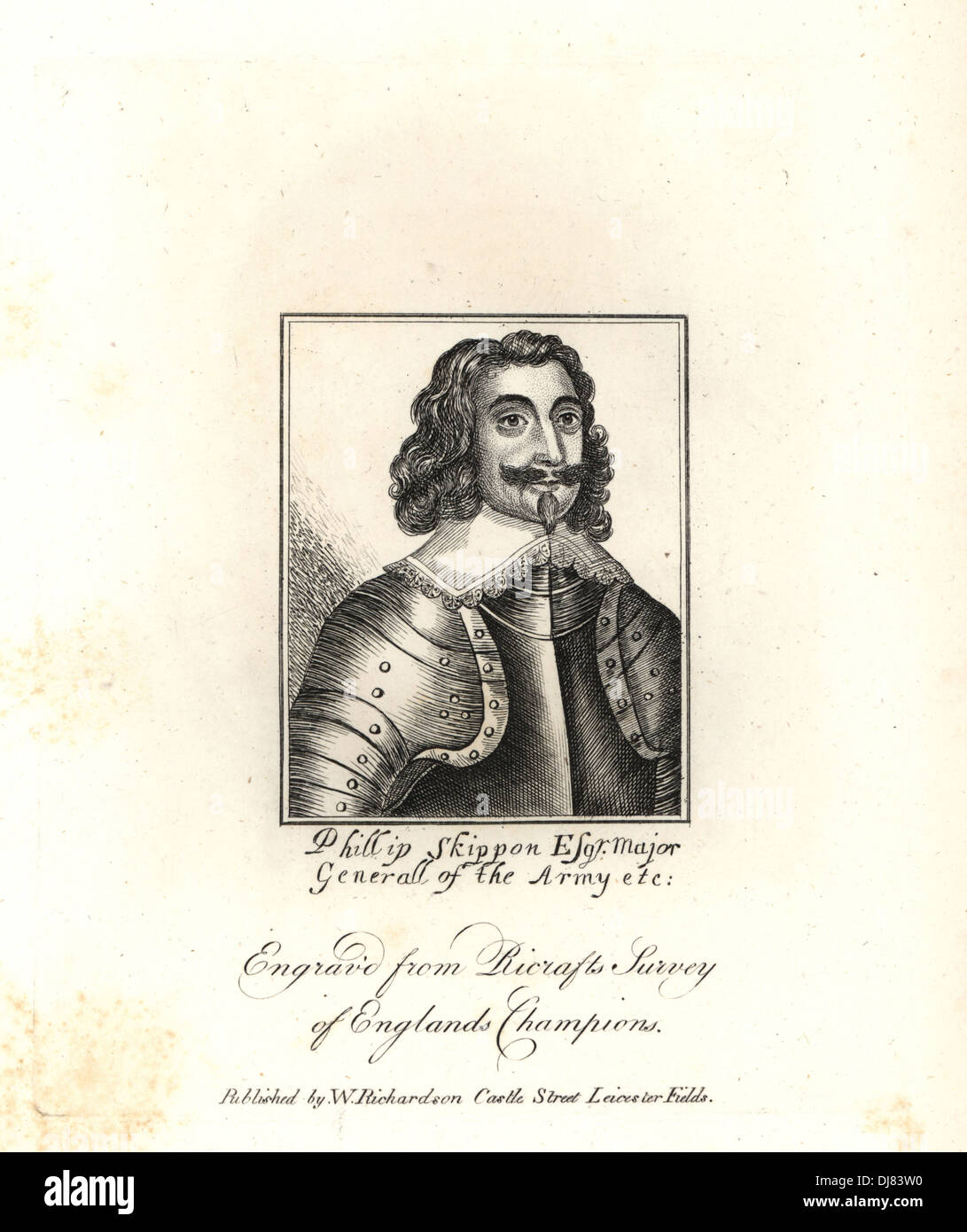 Phillip Skippon, General for the Parliament, 1644. - Stock Image