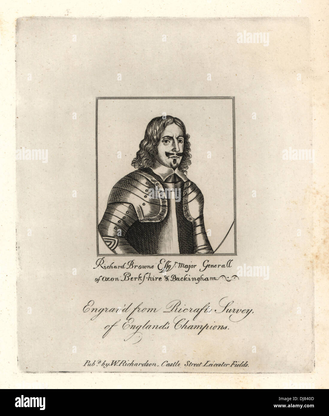 Richard Brown, Lord Mayor of London, 1660, Stock Photo