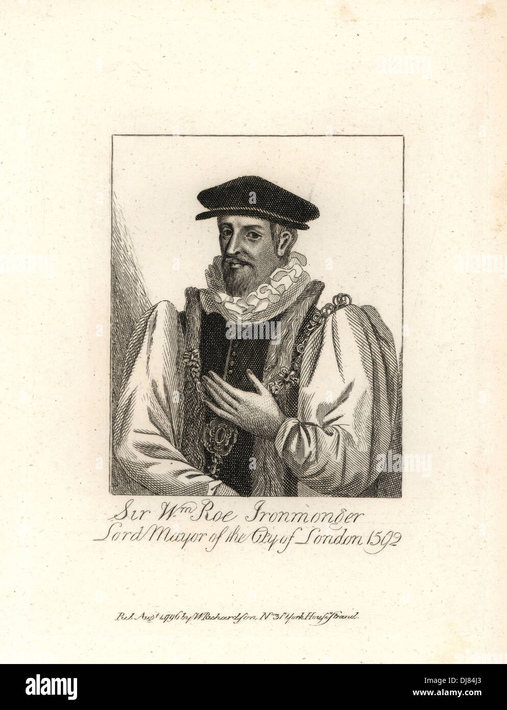Sir William Roe, ironmonger, Lord Mayor of London, 1592. - Stock Image