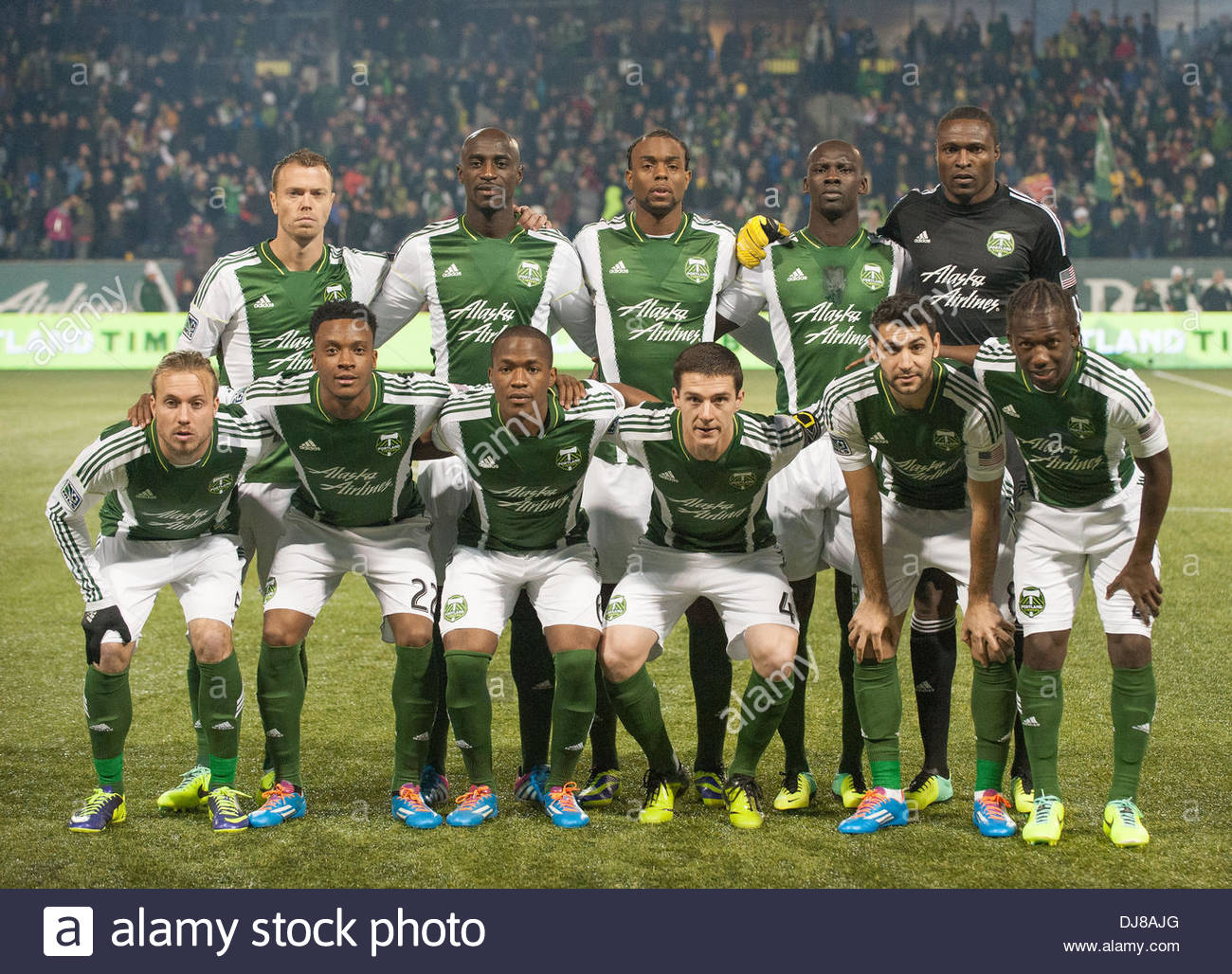 Portland, Oregon, US, . 24th Nov, 2013. tha Portland Timbers starting lineup. Real Salt Lake defeated Portland Timbers 1-0 to win the MLS Western Championship. The Timbers played host to RSL at Portland's Jeld-Wen Field to a sell out crowd. Credit:  Ken Hawkins/ZUMAPRESS.com/Alamy Live News - Stock Image