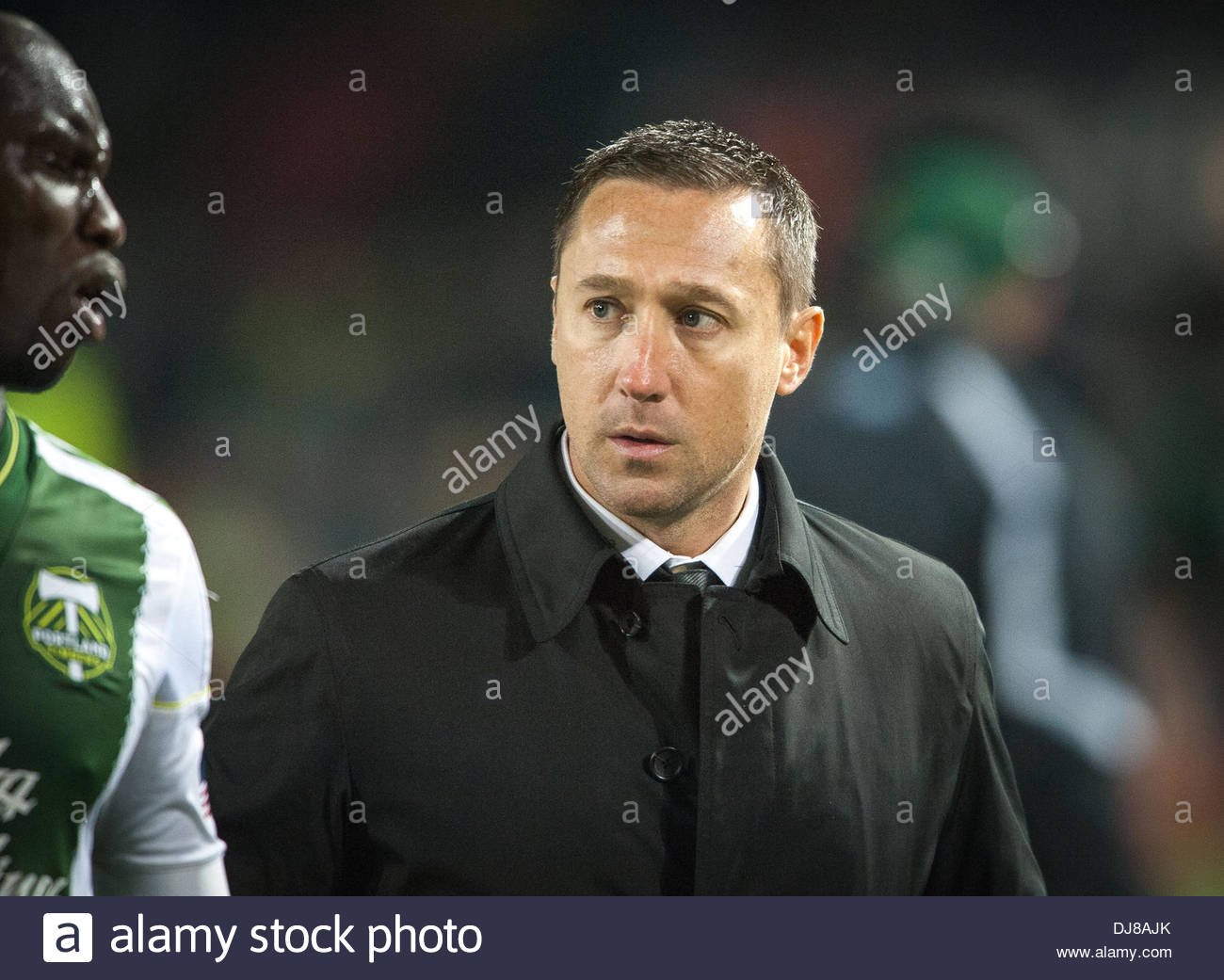Portland, Oregon, US, . 24th Nov, 2013. Timbers head coach Caleb Porter. Real Salt Lake defeated Portland Timbers 1-0 to win the MLS Western Championship. The Timbers played host to RSL at Portland's Jeld-Wen Field to a sell out crowd. Credit:  Ken Hawkins/ZUMAPRESS.com/Alamy Live News - Stock Image