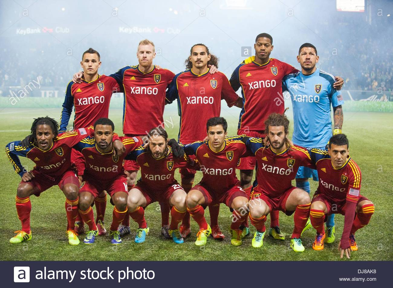Portland, Oregon, US, . 24th Nov, 2013. The Real Salt Lake starting lineup. Real Salt Lake defeated Portland Timbers 1-0 to win the MLS Western Championship. The Timbers played host to RSL at Portland's Jeld-Wen Field to a sell out crowd. Credit:  Ken Hawkins/ZUMAPRESS.com/Alamy Live News - Stock Image