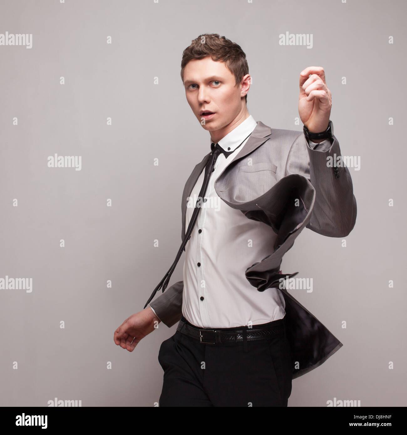 Fashionable business guy - Stock Image
