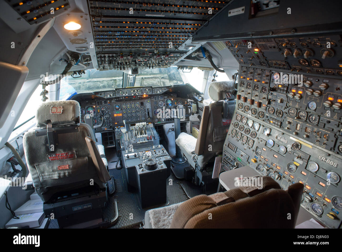 Schoenefeld, Germany  13th Nov, 2013  View of the cockpit of