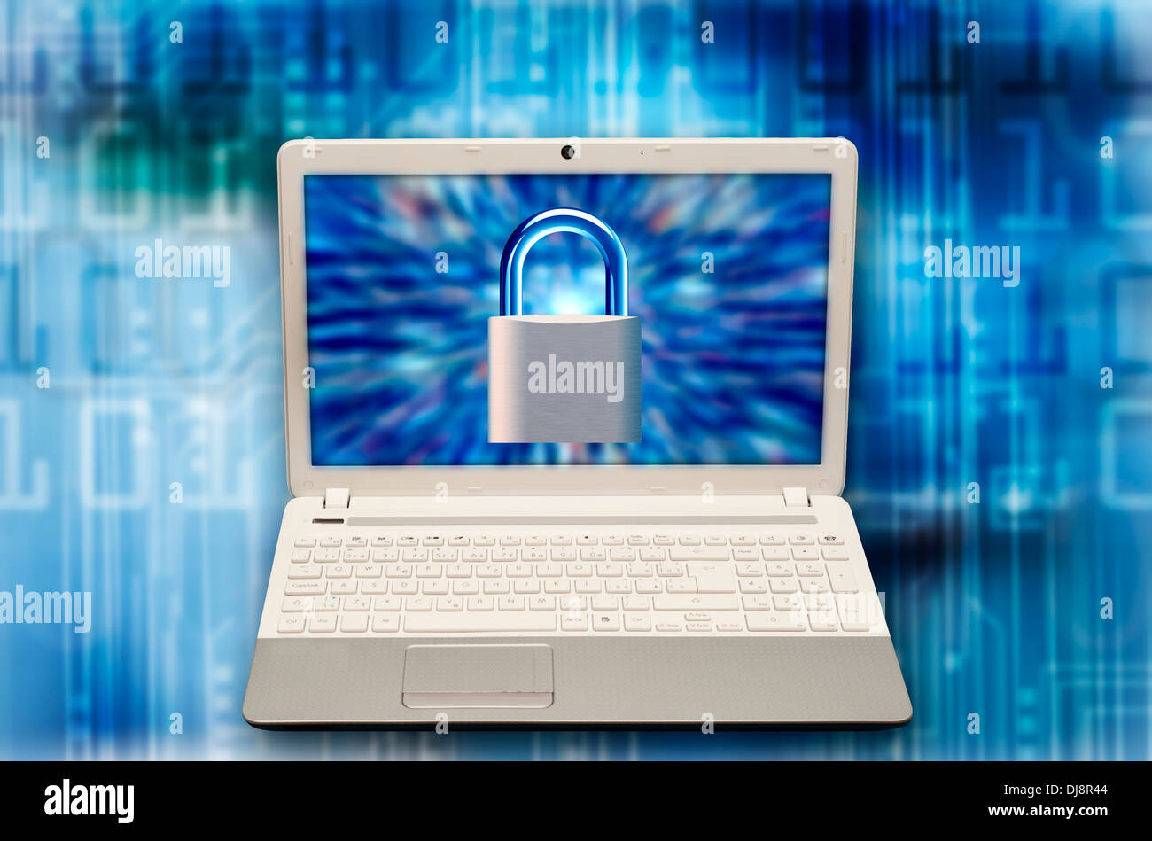 concept for computer security and ransomware - Stock Image