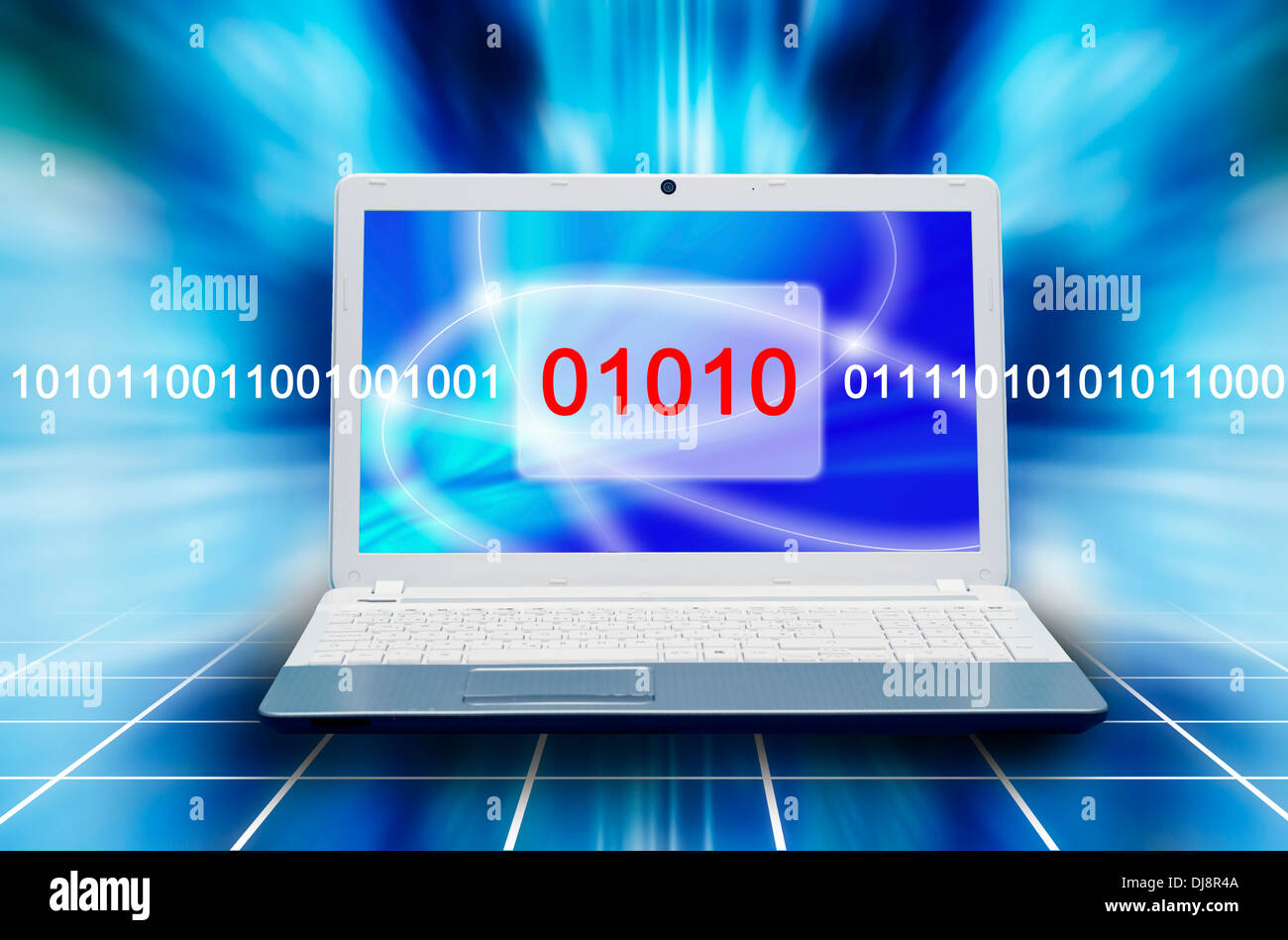 concept for computer security and data scanning - Stock Image