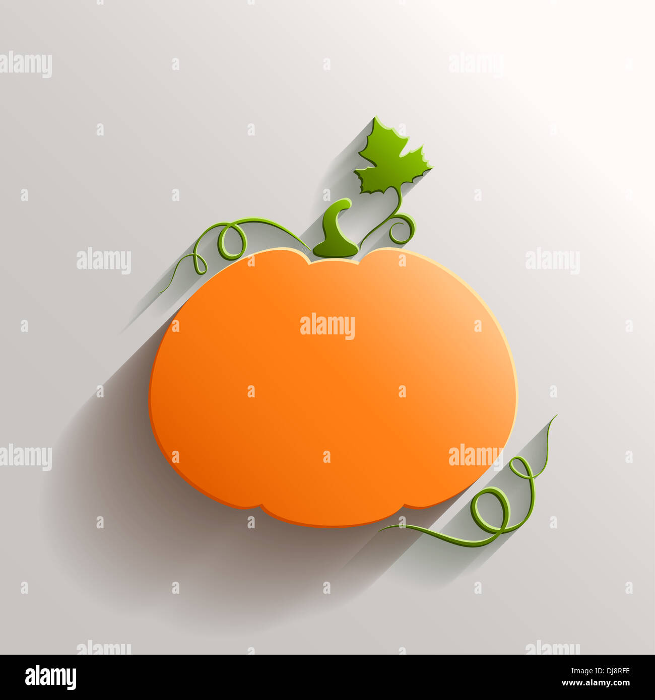 Happy Thanksgiving Design Stylized 3d Stock Photos Diagram Of A Pumpkin Abstract With Long Shadow Over White Background Image