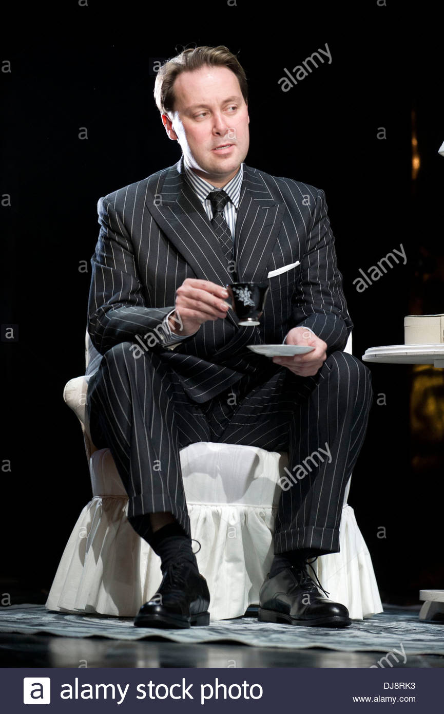 Strangers On A Train by Craig Warner based on the novel by Patricia Highsmith, directed by Robert Allan Ackerman. With Christian McKay as Gerard.Opens at The Gielgud Theatre on 19/11/13 - Stock Image