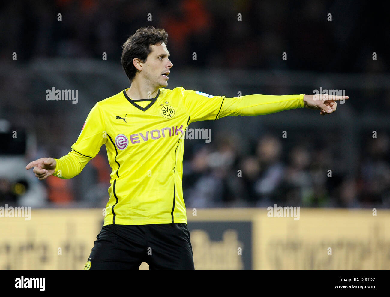 Dortmund, Germany November 23rd 2013, German Football Bundesliga Season 2013/14 matchday 13, Borussia Dortmund (BVB) vs.  FC Bayern Munich (Muenchen, Munchen, FCB) 3:0 --- Manuel Friedrich (BVB) - Stock Image