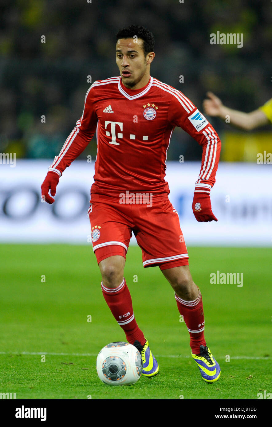 Dortmund, Germany November 23rd 2013, German Football Bundesliga Season 2013/14 matchday 13, Borussia Dortmund (BVB) vs.  FC Bayern Munich (Muenchen, Munchen, FCB) 3:0 --- Thiago Alcantara (Bayern) - Stock Image