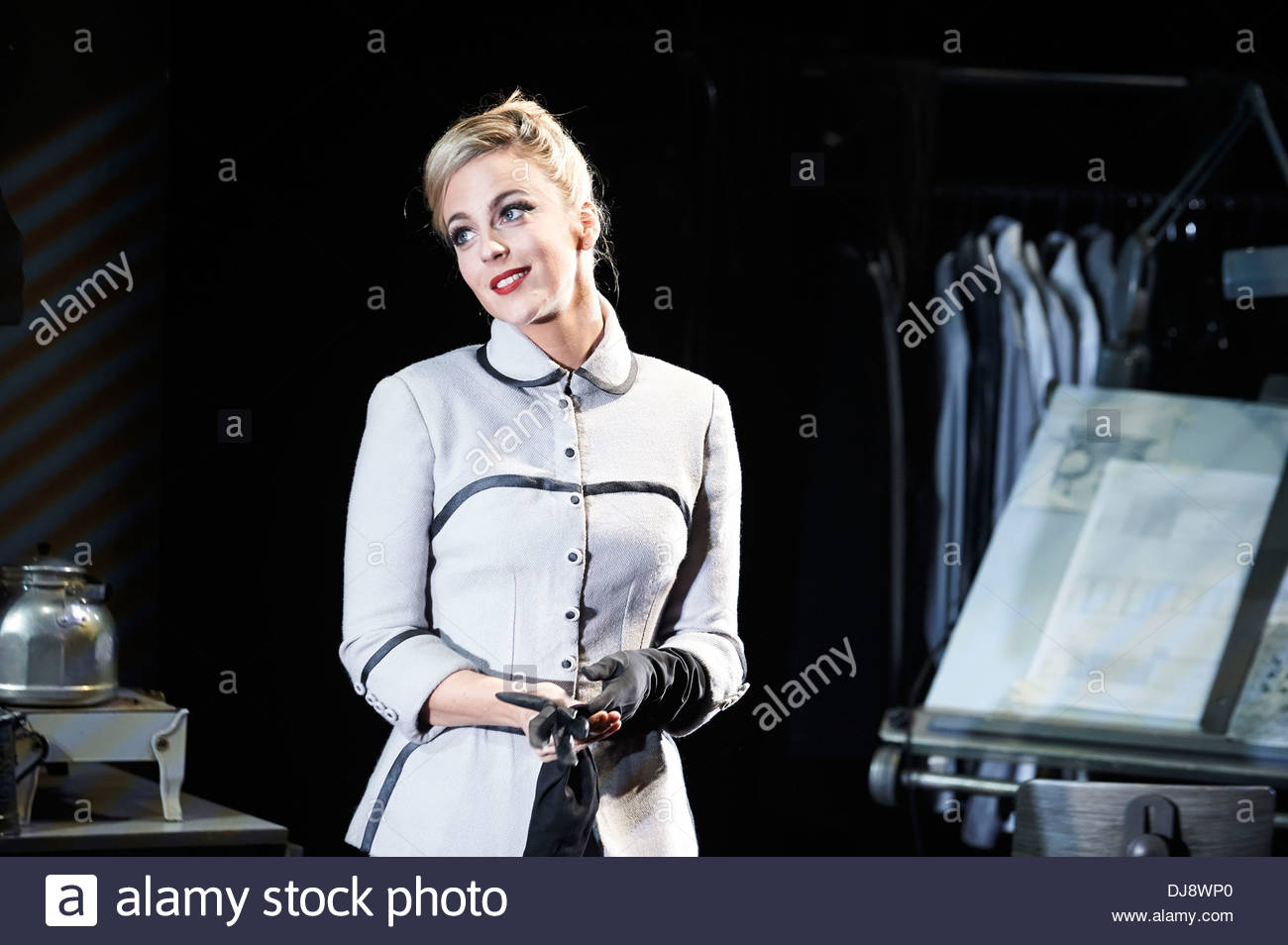 Strangers On A Train by Craig Warner based on the novel by Patricia Highsmith, directed by Robert Allan Ackerman. With Miranda Raison as Anne.Opens at The Gielgud Theatre on 19/11/13 - Stock Image