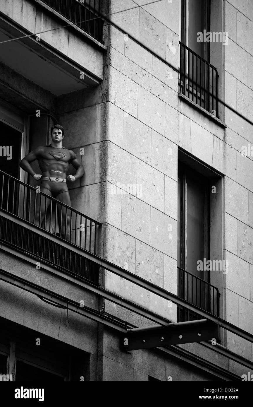Superman mannequin - Stock Image
