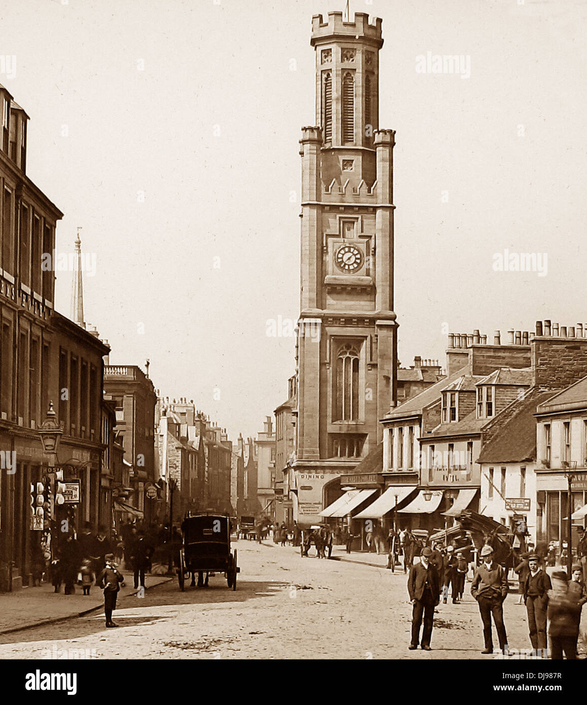 Ayr Wallace Tower Victorian period - Stock Image