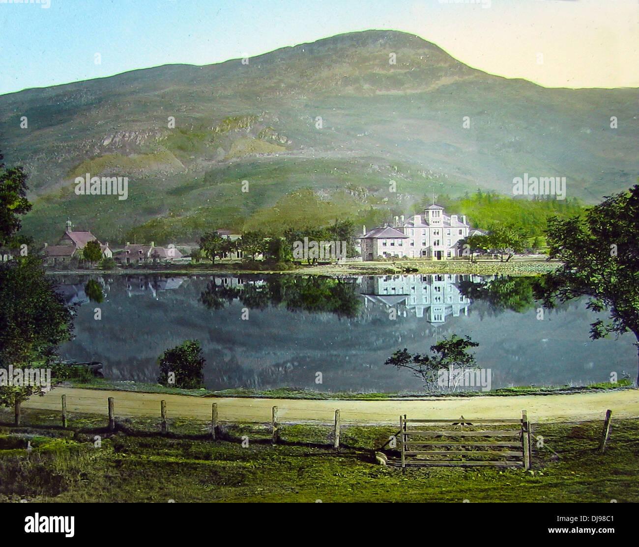 St. Fillans Loch Earn Victorian period - Stock Image